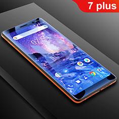 Schutzfolie Displayschutzfolie Panzerfolie Skins zum Aufkleben Full Coverage Anti Blue Ray B01 für Nokia 7 Plus Klar