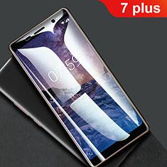 Schutzfolie Displayschutzfolie Panzerfolie Skins zum Aufkleben Full Coverage F01 für Nokia 7 Plus Klar