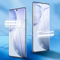 Schutzfolie Displayschutzfolie Panzerfolie Skins zum Aufkleben Full Coverage F01 für Vivo X60 Pro 5G Klar