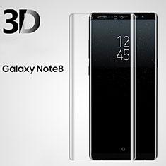 Schutzfolie Displayschutzfolie Panzerfolie Skins zum Aufkleben Gehärtetes Glas Glasfolie 3D für Samsung Galaxy Note 8 Duos N950F Klar