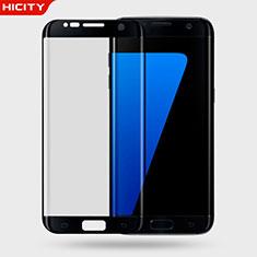 Schutzfolie Displayschutzfolie Panzerfolie Skins zum Aufkleben Gehärtetes Glas Glasfolie 3D für Samsung Galaxy S7 Edge G935F Schwarz