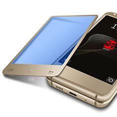 Schutzfolie Displayschutzfolie Panzerfolie Skins zum Aufkleben Gehärtetes Glas Glasfolie Anti Blue Ray B01 für Samsung W(2017) Gold