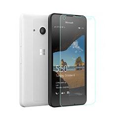 Schutzfolie Displayschutzfolie Panzerfolie Skins zum Aufkleben Gehärtetes Glas Glasfolie für Microsoft Lumia 550 Klar