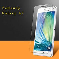 Schutzfolie Displayschutzfolie Panzerfolie Skins zum Aufkleben Gehärtetes Glas Glasfolie für Samsung Galaxy A7 SM-A700 Klar