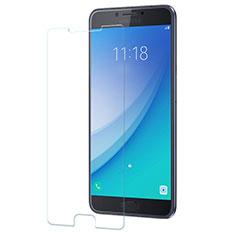 Schutzfolie Displayschutzfolie Panzerfolie Skins zum Aufkleben Gehärtetes Glas Glasfolie für Samsung Galaxy C7 Pro C7010 Klar