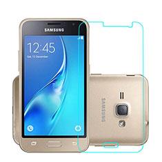 Schutzfolie Displayschutzfolie Panzerfolie Skins zum Aufkleben Gehärtetes Glas Glasfolie für Samsung Galaxy J1 (2016) J120F Klar