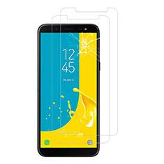 Schutzfolie Displayschutzfolie Panzerfolie Skins zum Aufkleben Gehärtetes Glas Glasfolie für Samsung Galaxy J6 (2018) J600F Klar