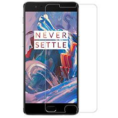 Schutzfolie Displayschutzfolie Panzerfolie Skins zum Aufkleben Gehärtetes Glas Glasfolie R02 für OnePlus 3 Klar