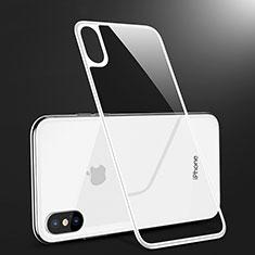Schutzfolie Displayschutzfolie Panzerfolie Skins zum Aufkleben Gehärtetes Glas Glasfolie Rückseite B09 für Apple iPhone Xs Weiß