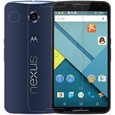 Schutzfolie Displayschutzfolie Panzerfolie Skins zum Aufkleben Gehärtetes Glas Glasfolie T01 für Google Nexus 6 Klar