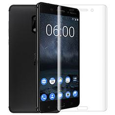 Schutzfolie Displayschutzfolie Panzerfolie Skins zum Aufkleben Gehärtetes Glas Glasfolie T01 für Nokia 6 Klar