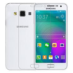 Schutzfolie Displayschutzfolie Panzerfolie Skins zum Aufkleben Gehärtetes Glas Glasfolie T01 für Samsung Galaxy A3 SM-300F Klar