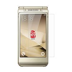 Schutzfolie Displayschutzfolie Panzerfolie Skins zum Aufkleben Gehärtetes Glas Glasfolie T01 für Samsung W(2017) Klar