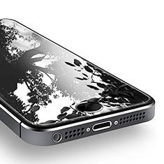 Schutzfolie Displayschutzfolie Panzerfolie Skins zum Aufkleben Gehärtetes Glas Glasfolie T02 für Apple iPhone 5 Klar