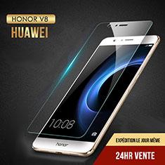 Schutzfolie Displayschutzfolie Panzerfolie Skins zum Aufkleben Gehärtetes Glas Glasfolie T02 für Huawei Honor V8 Klar