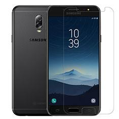 Schutzfolie Displayschutzfolie Panzerfolie Skins zum Aufkleben Gehärtetes Glas Glasfolie T02 für Samsung Galaxy C7 (2017) Klar