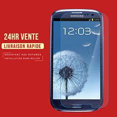 Schutzfolie Displayschutzfolie Panzerfolie Skins zum Aufkleben Gehärtetes Glas Glasfolie T02 für Samsung Galaxy S3 III LTE 4G Klar