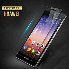 Schutzfolie Displayschutzfolie Panzerfolie Skins zum Aufkleben Gehärtetes Glas Glasfolie T03 für Huawei Ascend P7 Klar