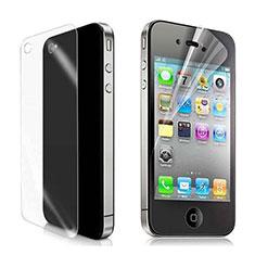 Schutzfolie Displayschutzfolie Panzerfolie Skins zum Aufkleben Vorder und Rückseite für Apple iPhone 4 Klar