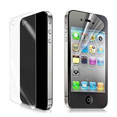 Schutzfolie Displayschutzfolie Panzerfolie Skins zum Aufkleben Vorder und Rückseite für Apple iPhone 4S Klar