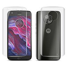 Schutzfolie Displayschutzfolie Panzerfolie Skins zum Aufkleben Vorder und Rückseite für Motorola Moto X4 Klar