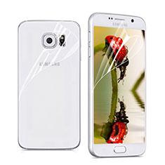 Schutzfolie Displayschutzfolie Panzerfolie Skins zum Aufkleben Vorder und Rückseite für Samsung Galaxy S6 SM-G920 Klar