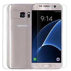 Schutzfolie Displayschutzfolie Panzerfolie Skins zum Aufkleben Vorder und Rückseite Gehärtetes Glas Glasfolie für Samsung Galaxy S7 G930F G930FD Klar