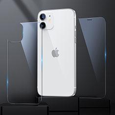 Schutzfolie Displayschutzfolie Panzerfolie Vorder und Rückseite Gehärtetes Glas Glasfolie Skins zum Aufkleben für Apple iPhone 12 Klar