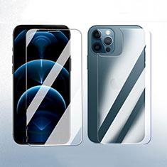 Schutzfolie Displayschutzfolie Panzerfolie Vorder und Rückseite Gehärtetes Glas Glasfolie Skins zum Aufkleben für Apple iPhone 12 Pro Klar