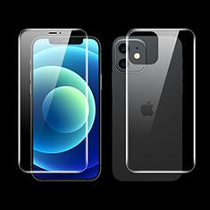 Schutzfolie Displayschutzfolie Panzerfolie Vorder und Rückseite Skins zum Aufkleben F01 für Apple iPhone 12 Klar