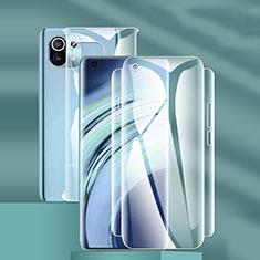 Schutzfolie Displayschutzfolie Panzerfolie Vorder und Rückseite Skins zum Aufkleben F01 für Xiaomi Mi 11 5G Klar