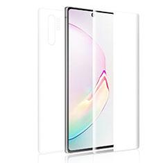 Schutzfolie Displayschutzfolie Panzerfolie Vorder und Rückseite Skins zum Aufkleben für Samsung Galaxy Note 10 Klar
