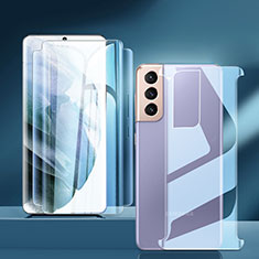 Schutzfolie Displayschutzfolie Panzerfolie Vorder und Rückseite Skins zum Aufkleben für Samsung Galaxy S21 5G Klar