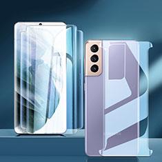 Schutzfolie Displayschutzfolie Panzerfolie Vorder und Rückseite Skins zum Aufkleben für Samsung Galaxy S21 Plus 5G Klar