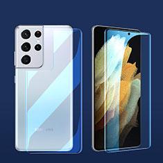 Schutzfolie Displayschutzfolie Panzerfolie Vorder und Rückseite Skins zum Aufkleben für Samsung Galaxy S21 Ultra 5G Klar