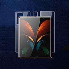 Schutzfolie Displayschutzfolie Panzerfolie Vorder und Rückseite Skins zum Aufkleben für Samsung Galaxy Z Fold2 5G Klar