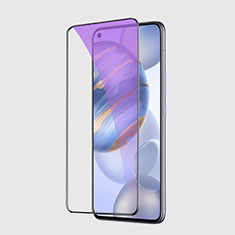 Schutzfolie Full Coverage Displayschutzfolie Panzerfolie Gehärtetes Glas Glasfolie Anti Blue Ray Skins zum Aufkleben Panzerglas F02 für Huawei Honor 30 Schwarz