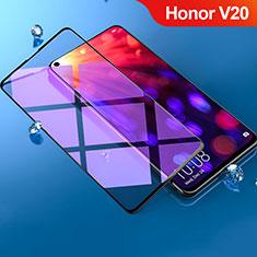 Schutzfolie Full Coverage Displayschutzfolie Panzerfolie Gehärtetes Glas Glasfolie Anti Blue Ray Skins zum Aufkleben Panzerglas F02 für Huawei Honor View 20 Schwarz