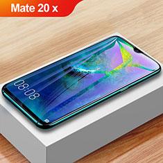 Schutzfolie Full Coverage Displayschutzfolie Panzerfolie Gehärtetes Glas Glasfolie Anti Blue Ray Skins zum Aufkleben Panzerglas F02 für Huawei Mate 20 X 5G Schwarz
