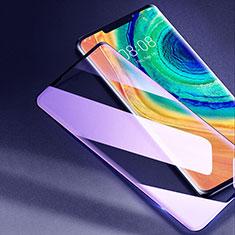 Schutzfolie Full Coverage Displayschutzfolie Panzerfolie Gehärtetes Glas Glasfolie Anti Blue Ray Skins zum Aufkleben Panzerglas F02 für Huawei Mate 30 Pro 5G Schwarz