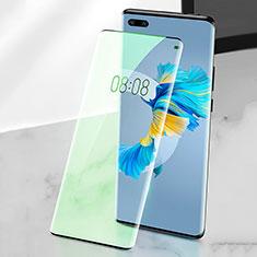 Schutzfolie Full Coverage Displayschutzfolie Panzerfolie Gehärtetes Glas Glasfolie Anti Blue Ray Skins zum Aufkleben Panzerglas F02 für Huawei Mate 40 Pro Grün