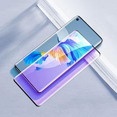 Schutzfolie Full Coverage Displayschutzfolie Panzerfolie Gehärtetes Glas Glasfolie Anti Blue Ray Skins zum Aufkleben Panzerglas F02 für Huawei Mate 40 Schwarz