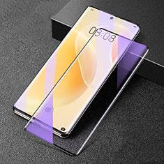 Schutzfolie Full Coverage Displayschutzfolie Panzerfolie Gehärtetes Glas Glasfolie Anti Blue Ray Skins zum Aufkleben Panzerglas F02 für Huawei Nova 8 5G Schwarz