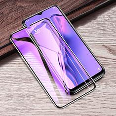 Schutzfolie Full Coverage Displayschutzfolie Panzerfolie Gehärtetes Glas Glasfolie Anti Blue Ray Skins zum Aufkleben Panzerglas F02 für Oppo A8 Schwarz