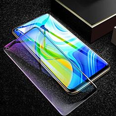 Schutzfolie Full Coverage Displayschutzfolie Panzerfolie Gehärtetes Glas Glasfolie Anti Blue Ray Skins zum Aufkleben Panzerglas F02 für Xiaomi Redmi Note 9 Schwarz