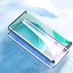 Schutzfolie Full Coverage Displayschutzfolie Panzerfolie Gehärtetes Glas Glasfolie Anti Blue Ray Skins zum Aufkleben Panzerglas F04 für Huawei Nova 8 Pro 5G Schwarz