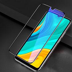 Schutzfolie Full Coverage Displayschutzfolie Panzerfolie Gehärtetes Glas Glasfolie Anti Blue Ray Skins zum Aufkleben Panzerglas für Huawei Enjoy 10e Schwarz
