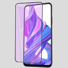 Schutzfolie Full Coverage Displayschutzfolie Panzerfolie Gehärtetes Glas Glasfolie Anti Blue Ray Skins zum Aufkleben Panzerglas für Huawei Honor 9X Schwarz