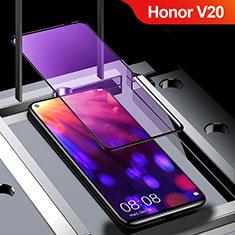 Schutzfolie Full Coverage Displayschutzfolie Panzerfolie Gehärtetes Glas Glasfolie Anti Blue Ray Skins zum Aufkleben Panzerglas für Huawei Honor View 20 Schwarz