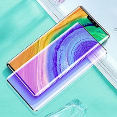 Schutzfolie Full Coverage Displayschutzfolie Panzerfolie Gehärtetes Glas Glasfolie Anti Blue Ray Skins zum Aufkleben Panzerglas für Huawei Mate 30 Pro Schwarz